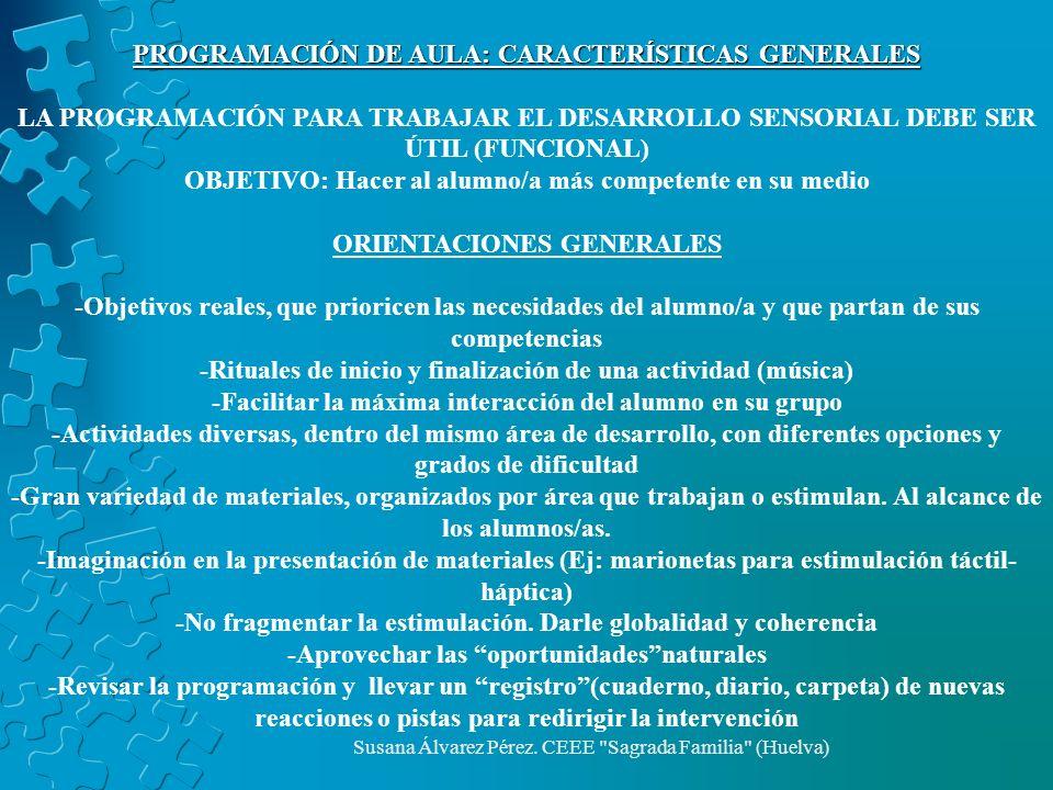 PROGRAMACIÓN DE AULA: CARACTERÍSTICAS GENERALES