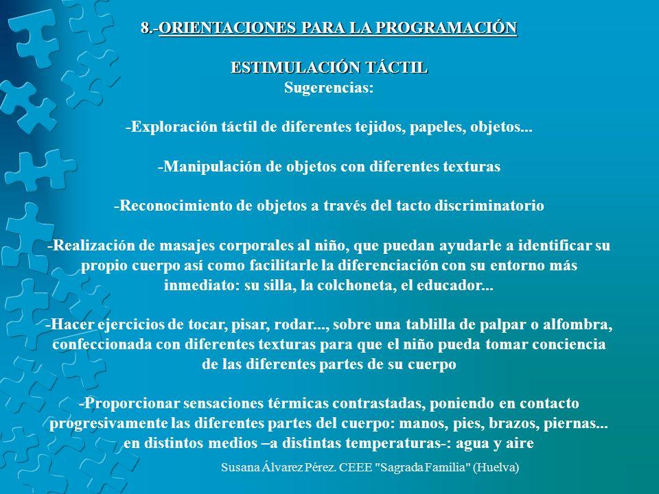 8.-ORIENTACIONES PARA LA PROGRAMACIÓN