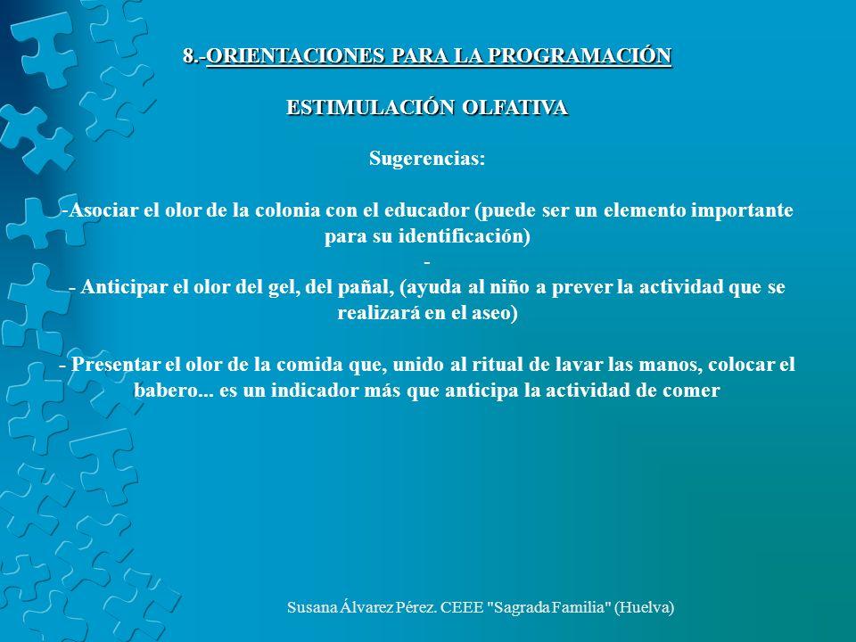 8.-ORIENTACIONES PARA LA PROGRAMACIÓN ESTIMULACIÓN OLFATIVA