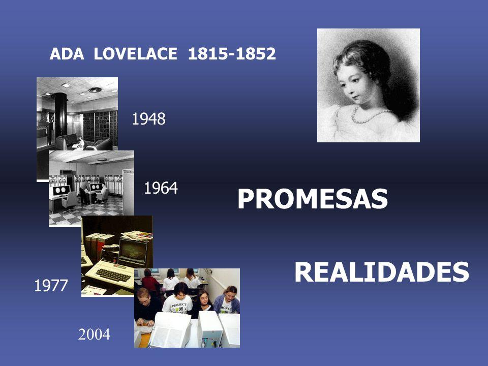ADA LOVELACE 1815-1852 1948 1964 PROMESAS REALIDADES 1977 2004