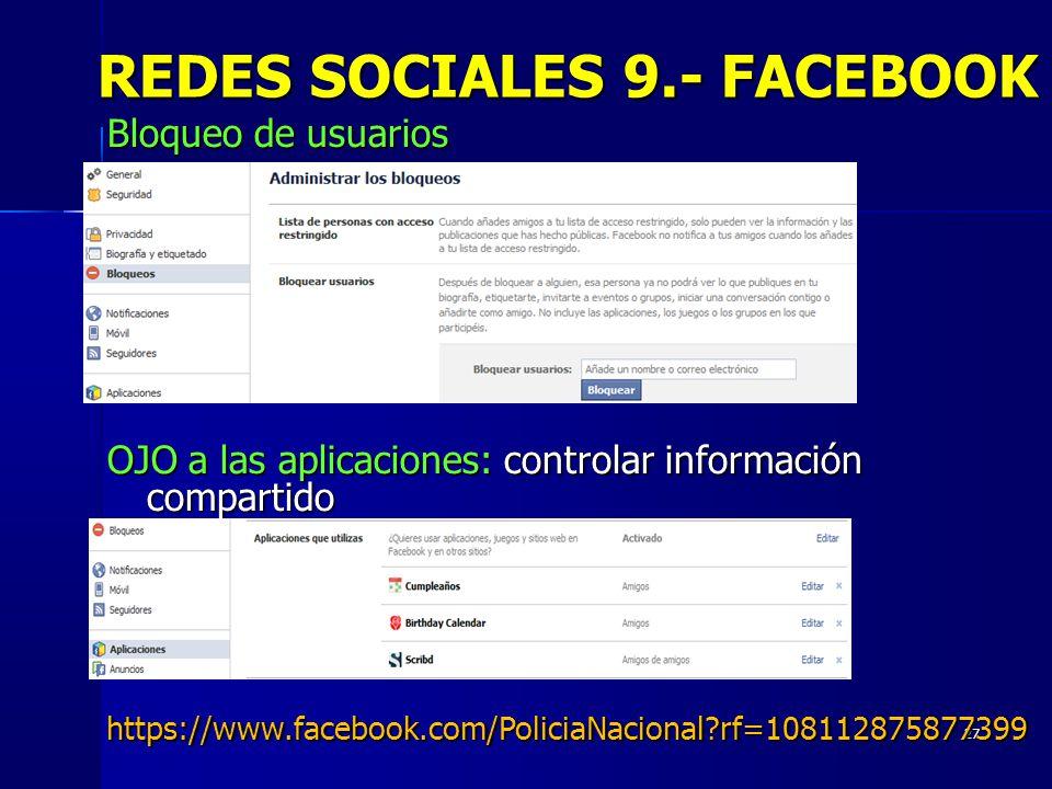 REDES SOCIALES 9.- FACEBOOK