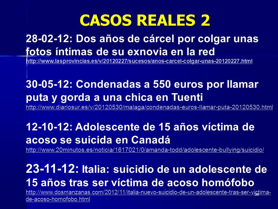 CASOS REALES 2 28-02-12: Dos años de cárcel por colgar unas fotos íntimas de su exnovia en la red.