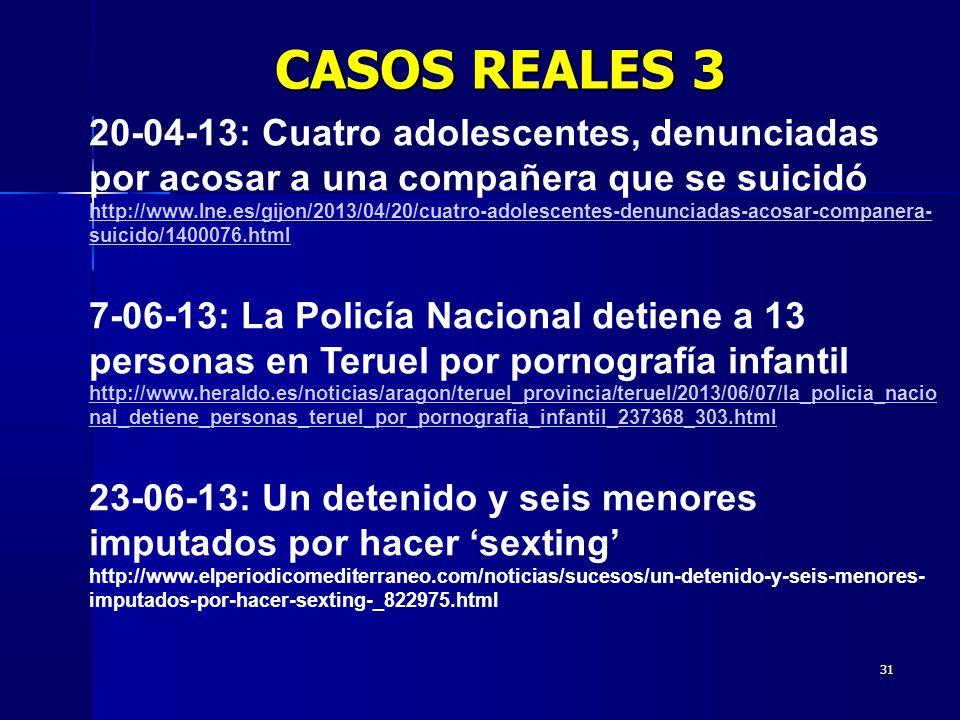 CASOS REALES 3 20-04-13: Cuatro adolescentes, denunciadas por acosar a una compañera que se suicidó.
