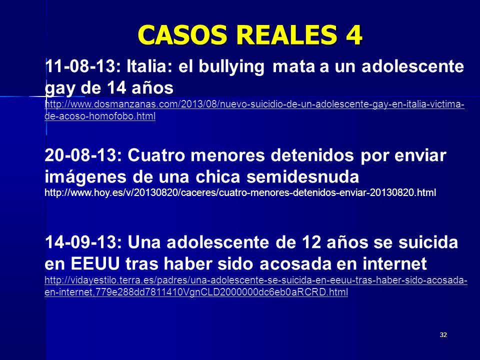 CASOS REALES 4 11-08-13: Italia: el bullying mata a un adolescente gay de 14 años.