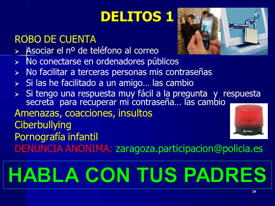 HABLA CON TUS PADRES DELITOS 1 ROBO DE CUENTA