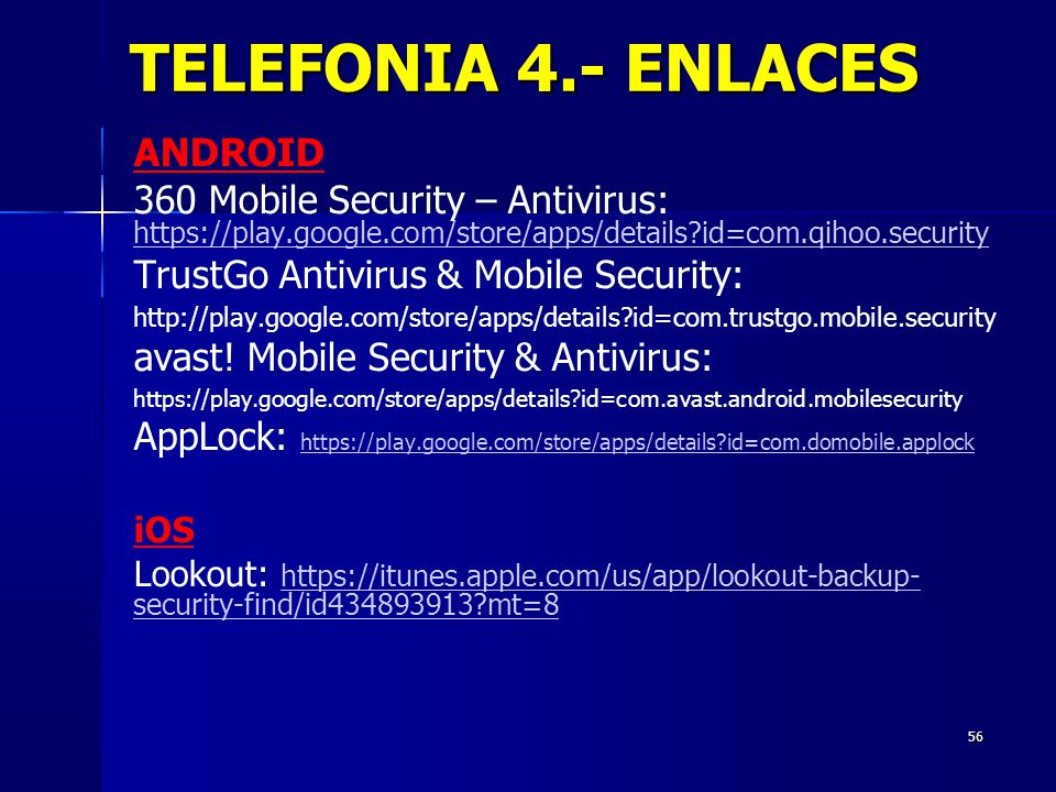 TELEFONIA 4.- ENLACES ANDROID