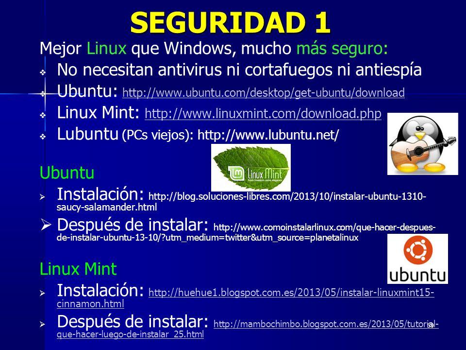 SEGURIDAD 1 Mejor Linux que Windows, mucho más seguro: