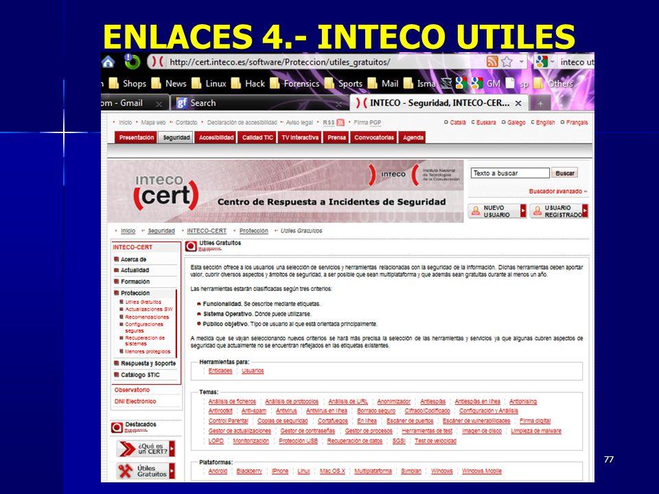 ENLACES 4.- INTECO UTILES