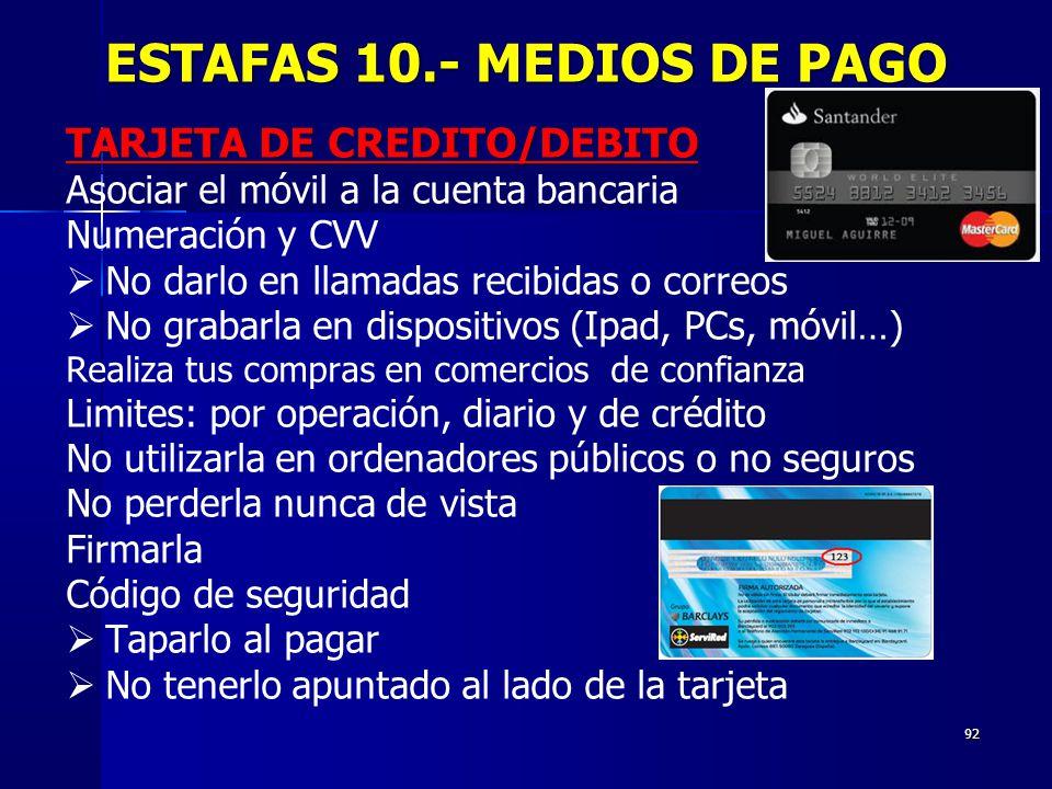 ESTAFAS 10.- MEDIOS DE PAGO