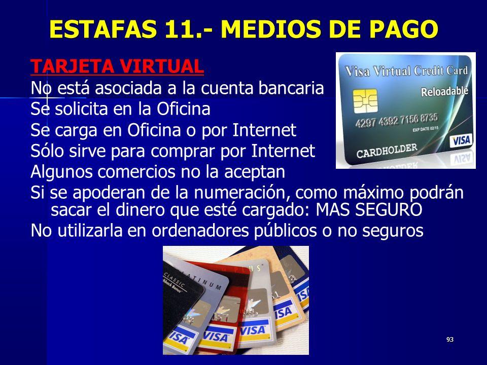 ESTAFAS 11.- MEDIOS DE PAGO