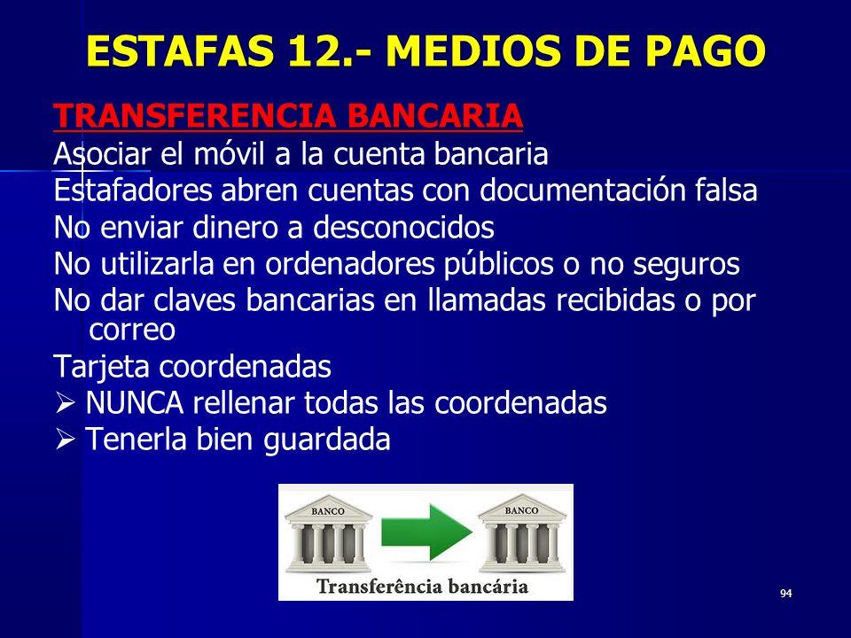 ESTAFAS 12.- MEDIOS DE PAGO