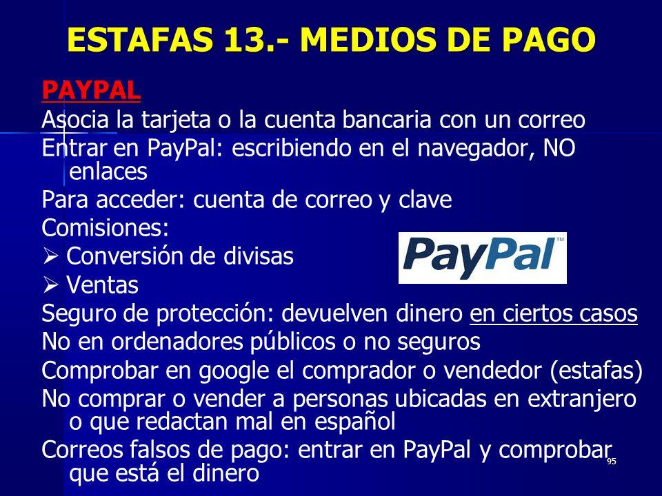 ESTAFAS 13.- MEDIOS DE PAGO