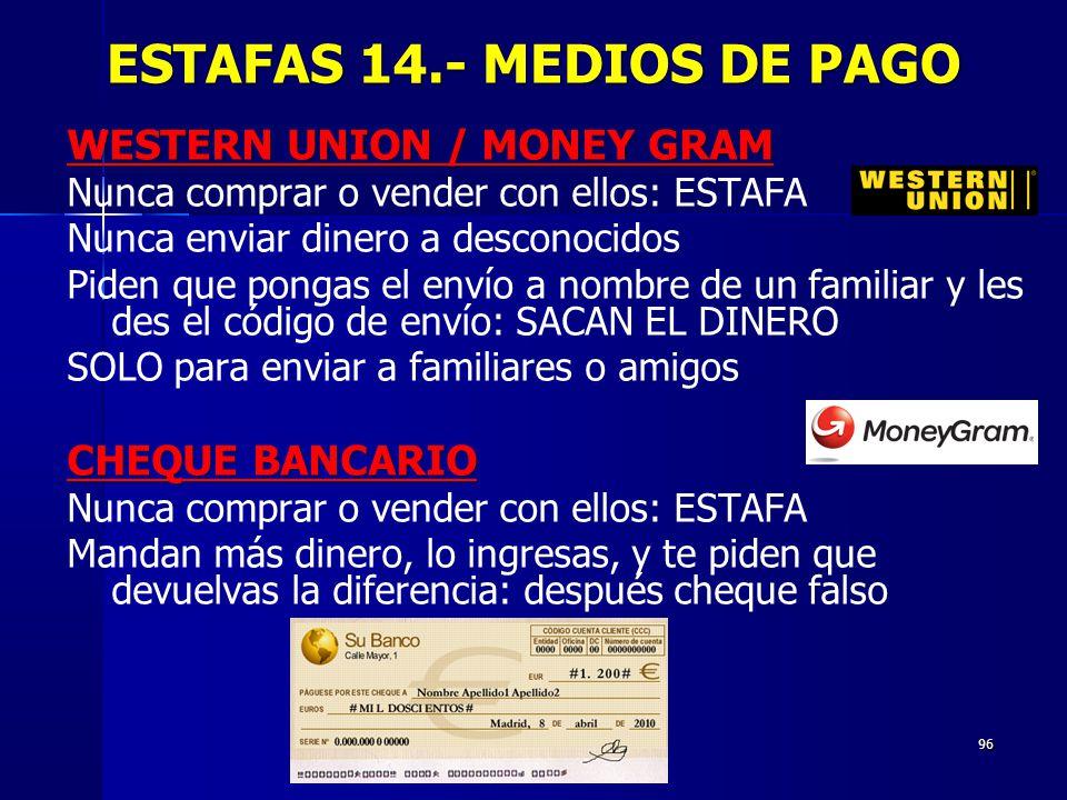 ESTAFAS 14.- MEDIOS DE PAGO