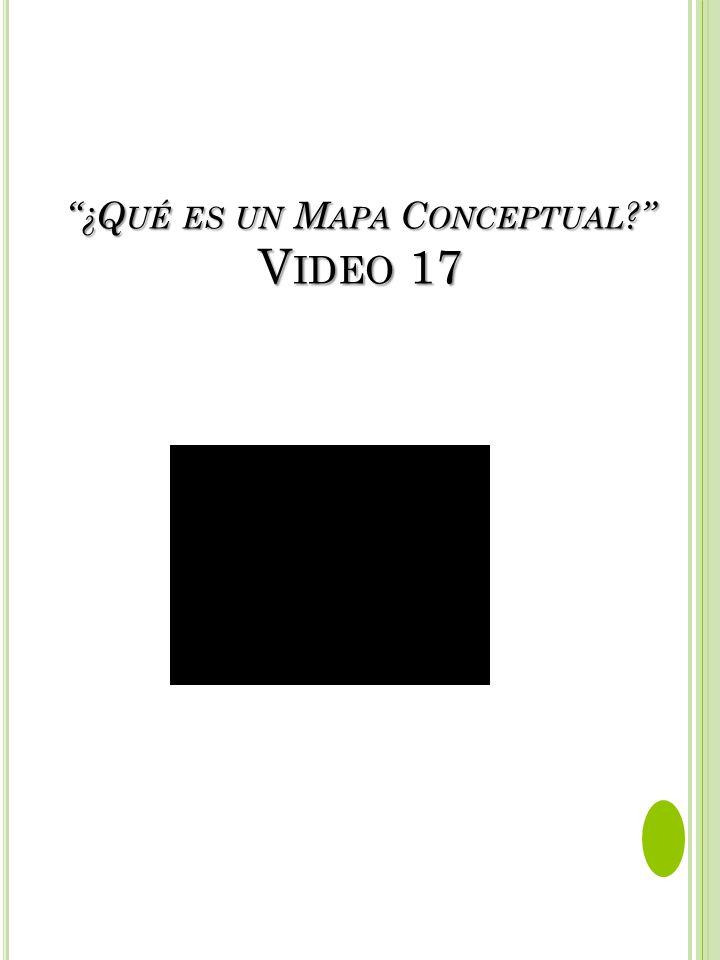 ¿Qué es un Mapa Conceptual Video 17
