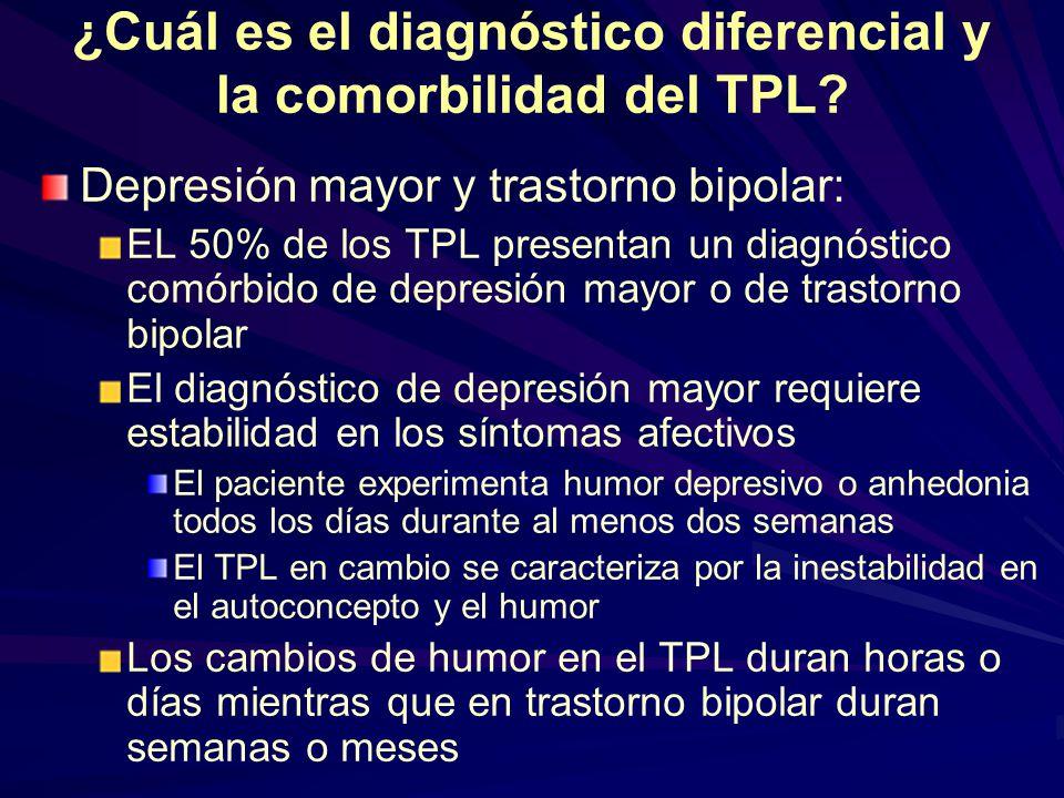 ¿Cuál es el diagnóstico diferencial y la comorbilidad del TPL