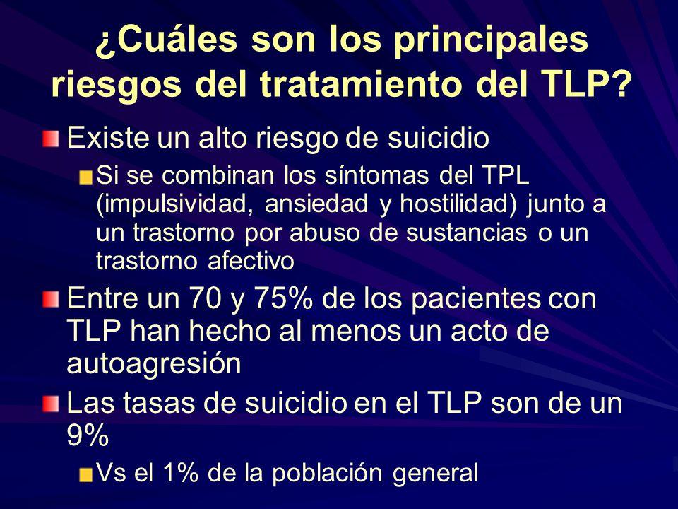 ¿Cuáles son los principales riesgos del tratamiento del TLP