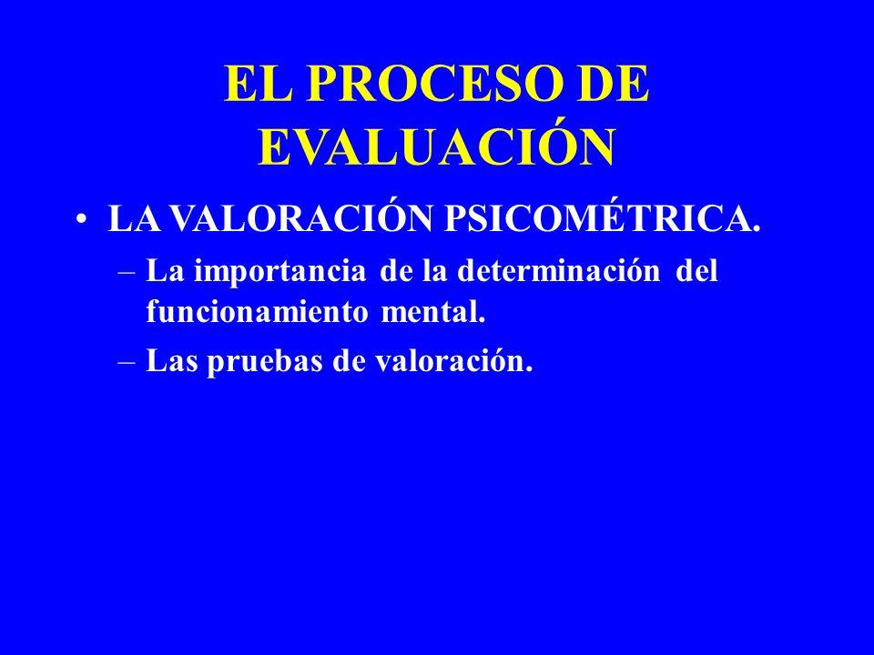 EL PROCESO DE EVALUACIÓN