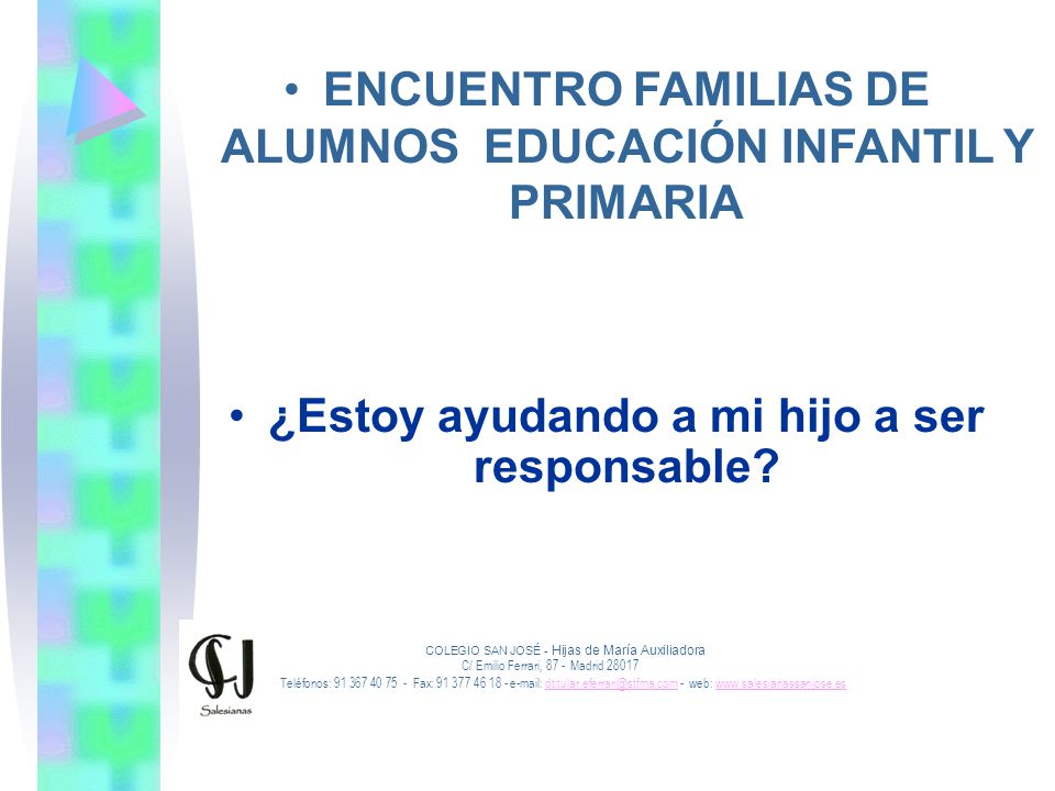 ENCUENTRO FAMILIAS DE ALUMNOS EDUCACIÓN INFANTIL Y PRIMARIA