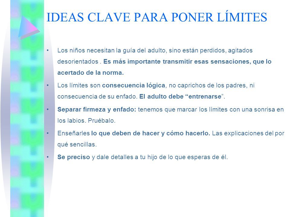 IDEAS CLAVE PARA PONER LÍMITES