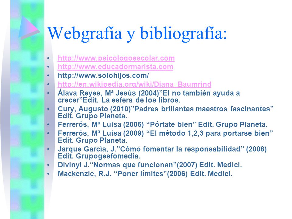 Webgrafía y bibliografía: