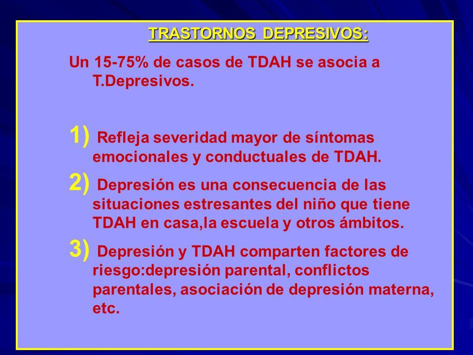 TRASTORNOS DEPRESIVOS: