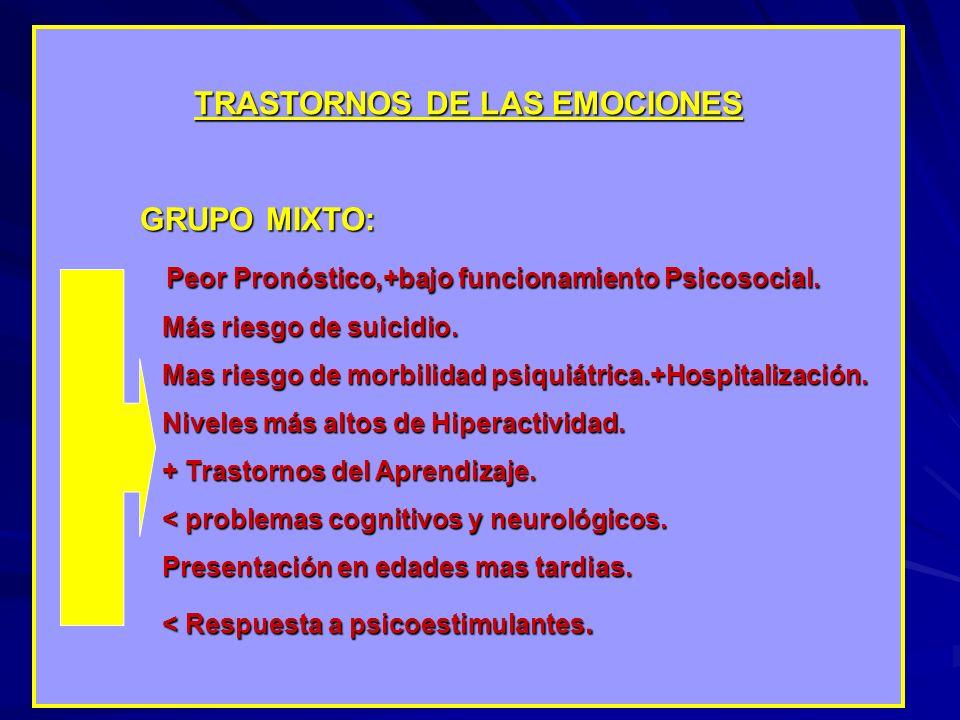 TRASTORNOS DE LAS EMOCIONES