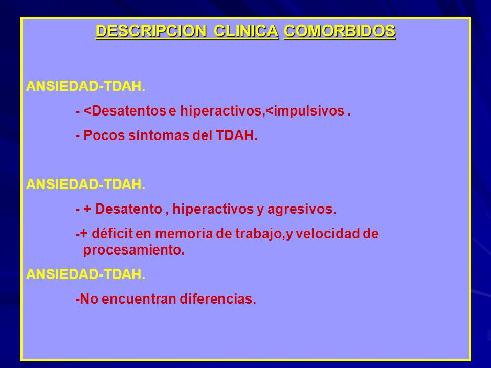 DESCRIPCION CLINICA COMORBIDOS