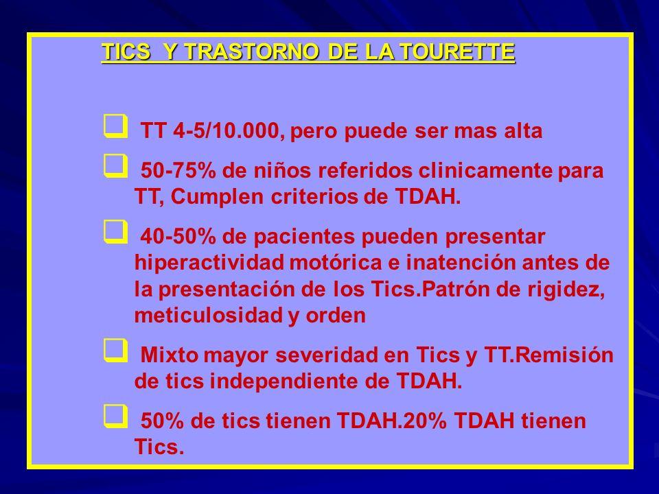 TICS Y TRASTORNO DE LA TOURETTE