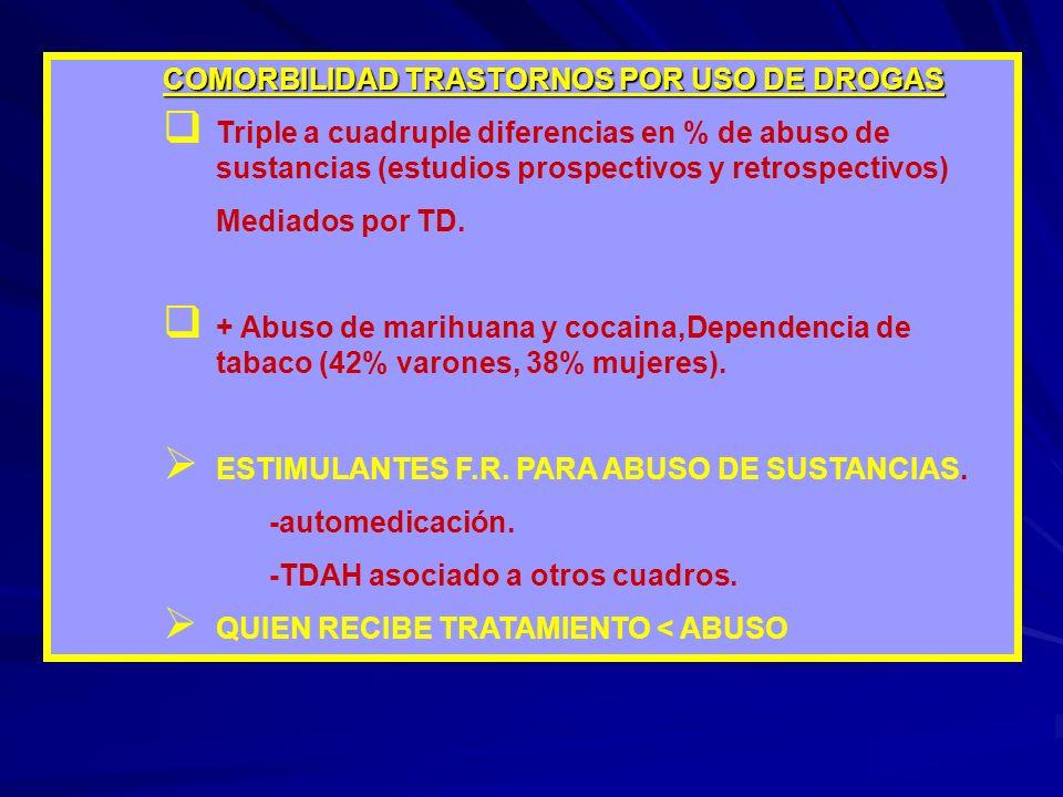 COMORBILIDAD TRASTORNOS POR USO DE DROGAS