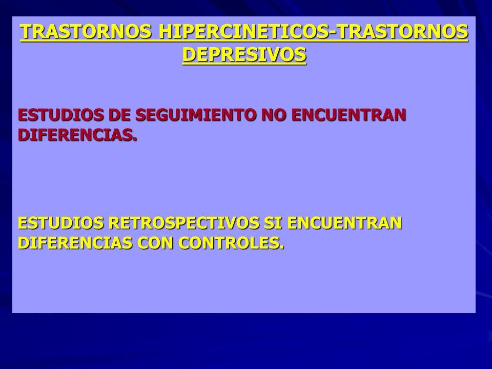 TRASTORNOS HIPERCINETICOS-TRASTORNOS DEPRESIVOS