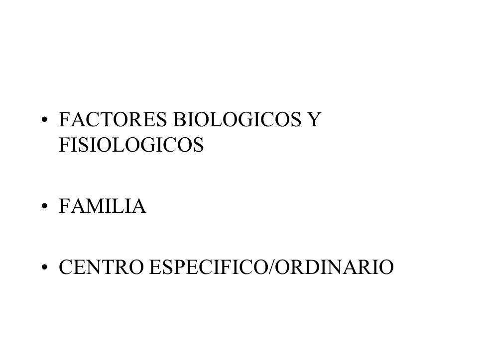 FACTORES BIOLOGICOS Y FISIOLOGICOS