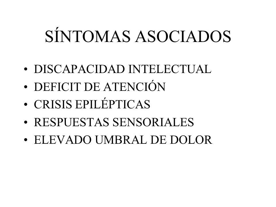 SÍNTOMAS ASOCIADOS DISCAPACIDAD INTELECTUAL DEFICIT DE ATENCIÓN