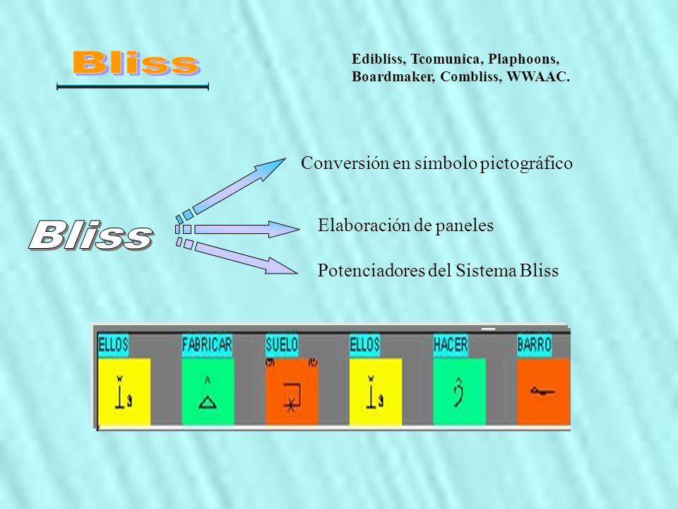 Bliss Bliss Conversión en símbolo pictográfico Elaboración de paneles