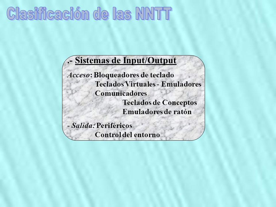 Clasificación de las NNTT