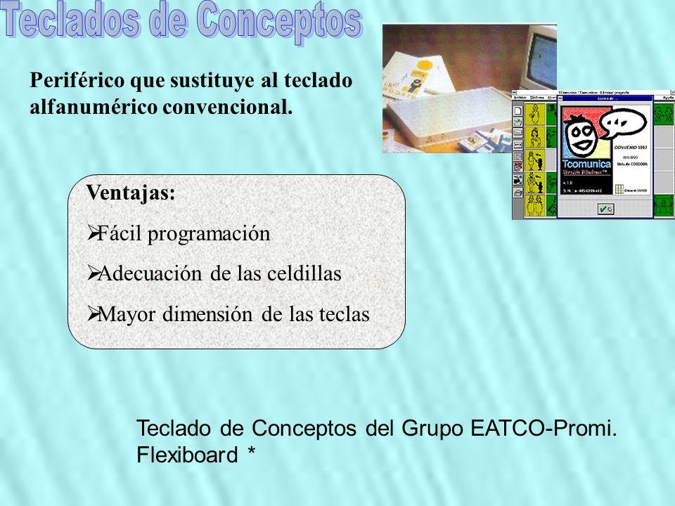 Teclados de Conceptos Periférico que sustituye al teclado alfanumérico convencional. Ventajas: Fácil programación.