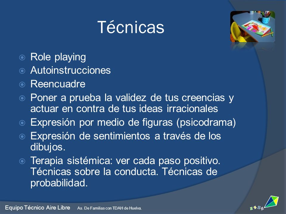 Técnicas Role playing Autoinstrucciones Reencuadre