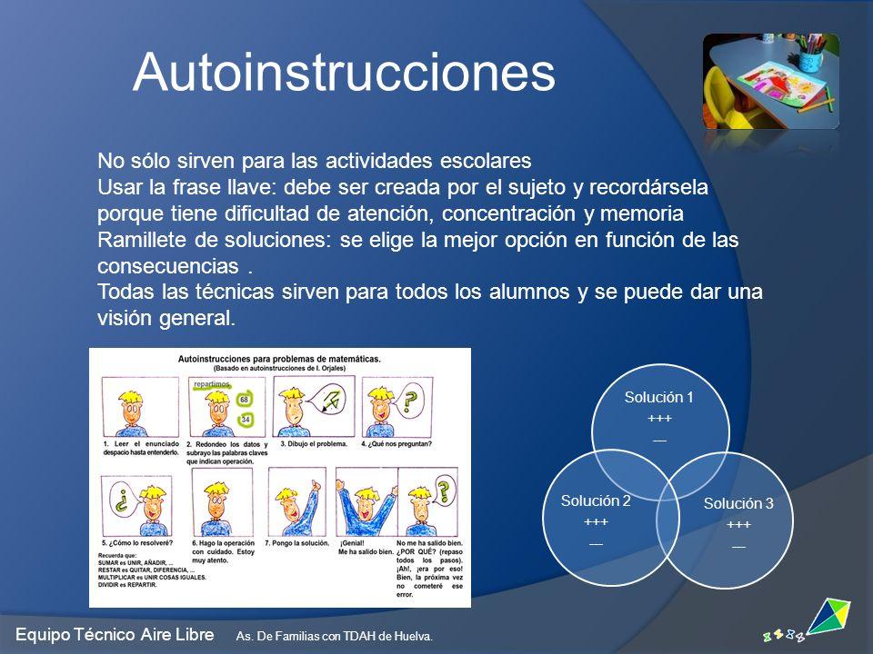 Autoinstrucciones No sólo sirven para las actividades escolares