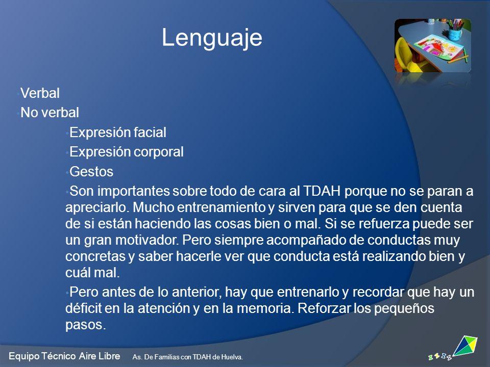 Lenguaje Verbal No verbal Expresión facial Expresión corporal Gestos