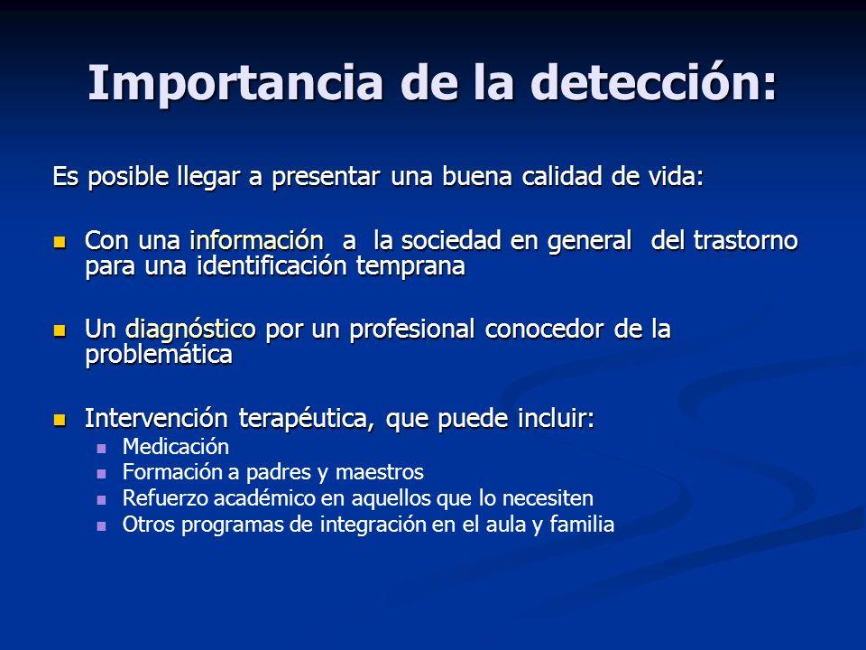Importancia de la detección: