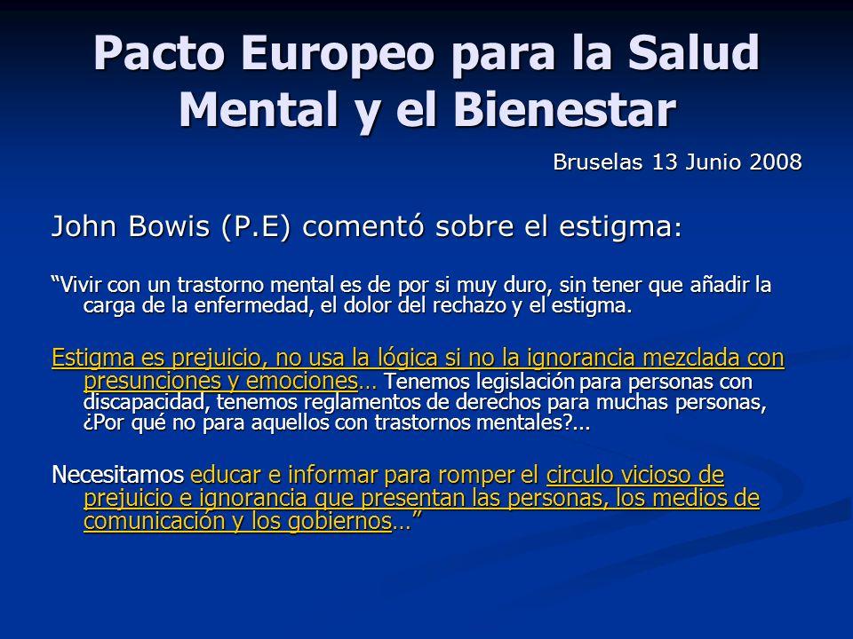 Pacto Europeo para la Salud Mental y el Bienestar