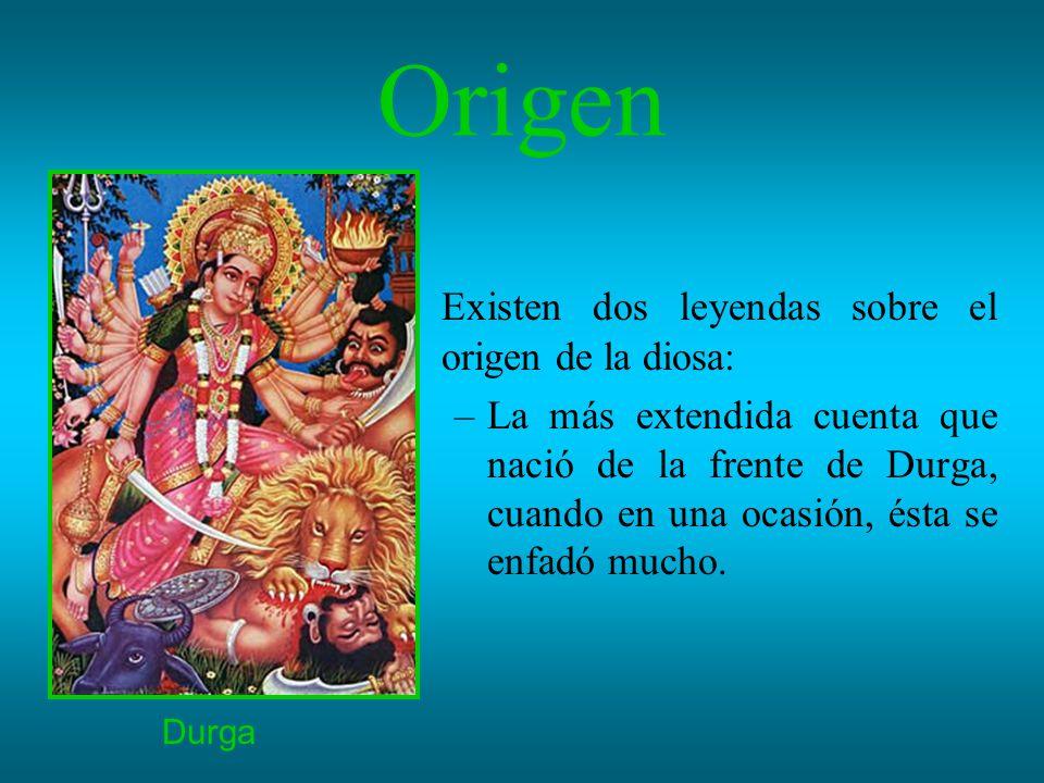 Origen Existen dos leyendas sobre el origen de la diosa: