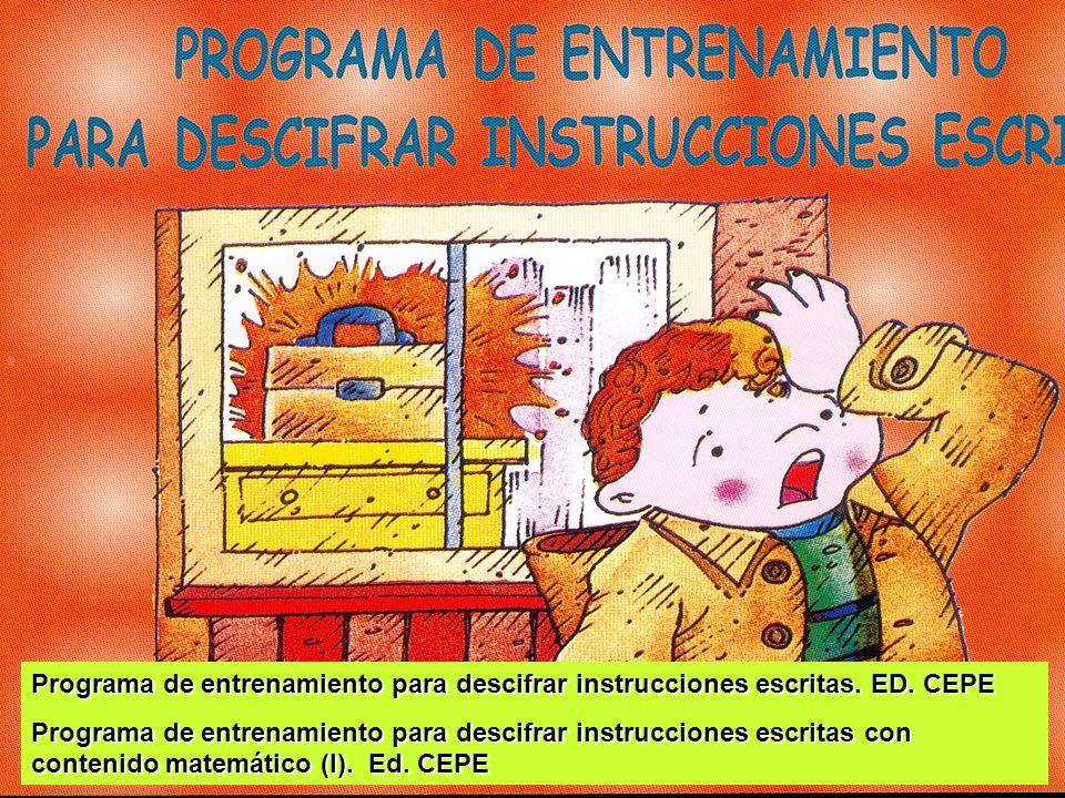 Programa de entrenamiento para descifrar instrucciones escritas. ED