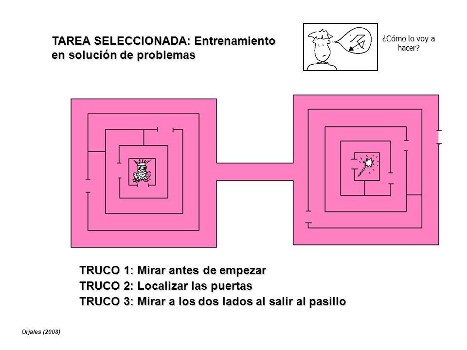 TAREA SELECCIONADA: Entrenamiento en solución de problemas