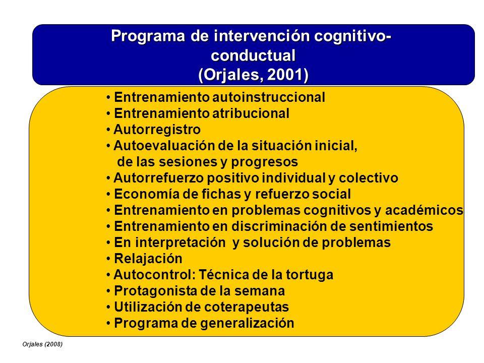 Programa de intervención cognitivo-