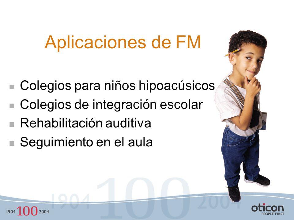 Aplicaciones de FM Colegios para niños hipoacúsicos