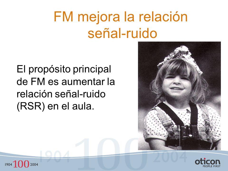 FM mejora la relación señal-ruido