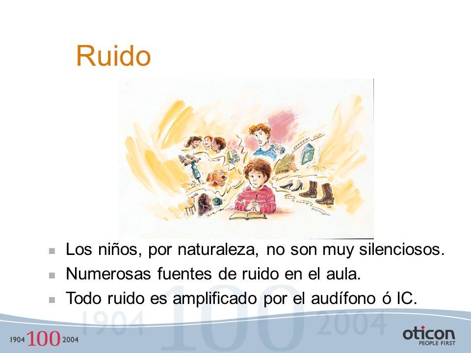 Ruido Los niños, por naturaleza, no son muy silenciosos.