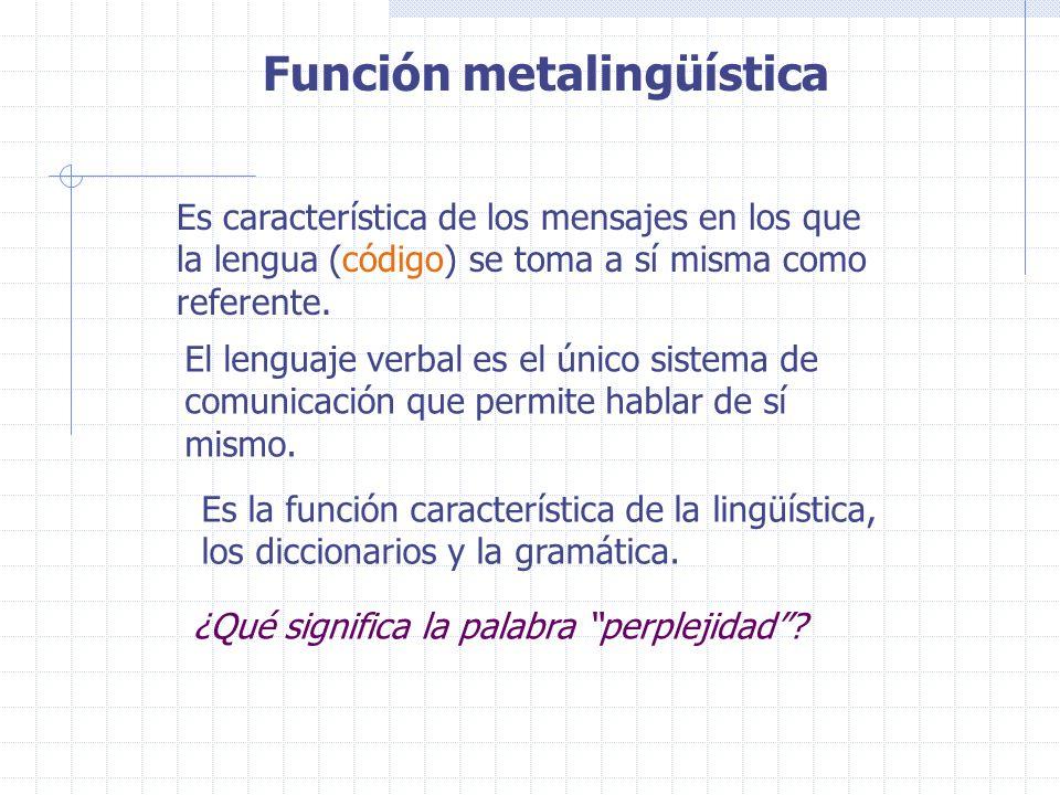 Función metalingüística