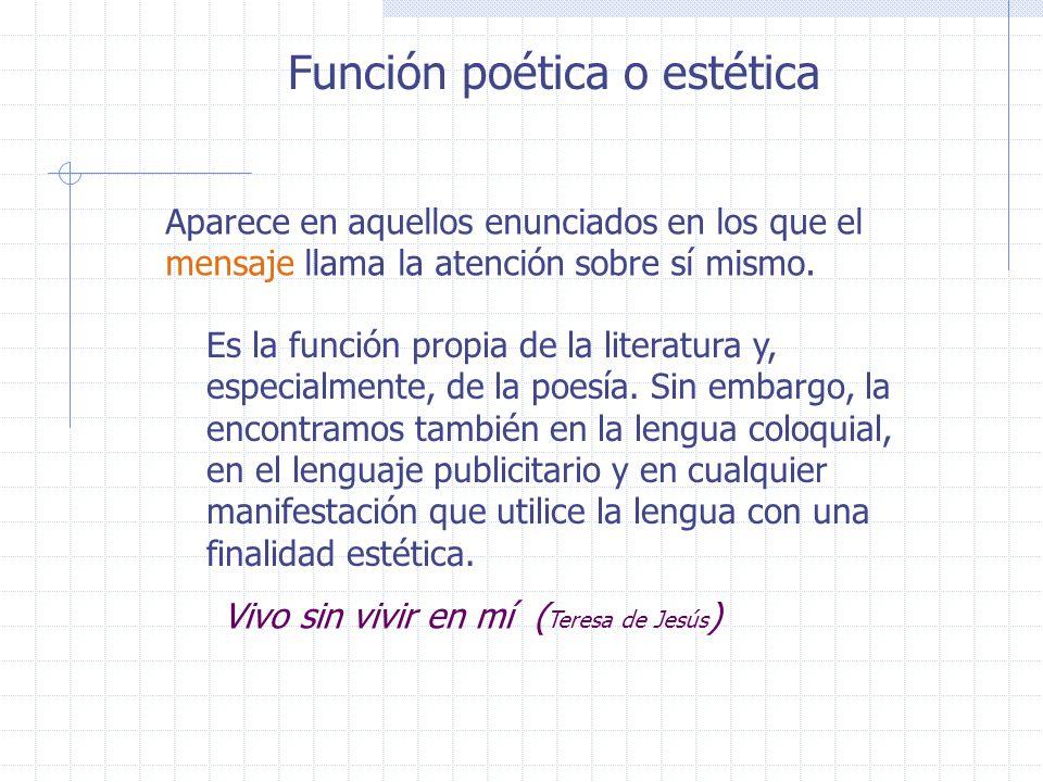 Función poética o estética