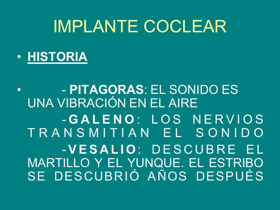 IMPLANTE COCLEAR HISTORIA
